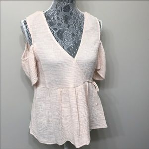 NWT Lucky Brand women's peach color top